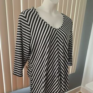Fashionable Striped 2X Top